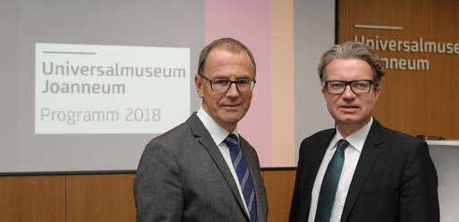 Joanneums-Direktor Wolfgang Muchitsch und Kulturlandesrat Christopher Drexler,