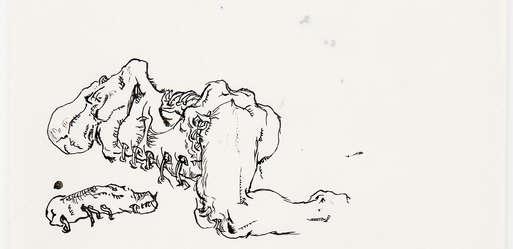 "Sujet, Günter Brus, ""Aktionsskizze"", 1966,"