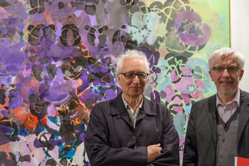 Terry Winters mit Kurator Peter Pakesch, Foto: Universalmuseum Joanneum/N. Lackner