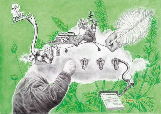 Mischtechnik auf Papier, Credit: studio ASYNCHROME