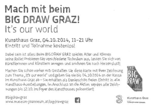 Flyer zum BIG DRAW GRAZ