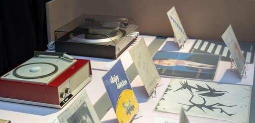 """Ausstellungsansicht, """"POP 1900–2000. Populäre Musik in der Steiermark"""", 2019,"""