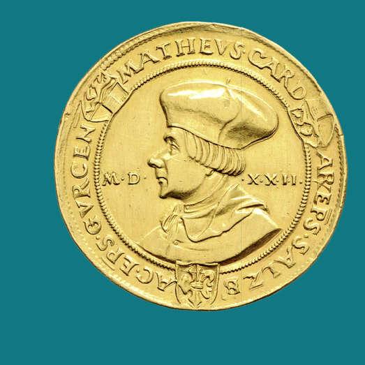 Matthäus Lang von Wellenburg (1519–1540), achtfacher Dukat 1522, Münzsammlung Bankhaus Spängler, Bankhaus Spängler / D. Sonnenwald