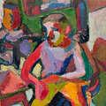 Maria Lassnig, Interieur 1949 (Porträt Arnulf Rainer)