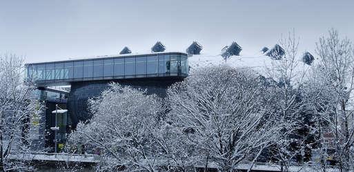 Kunsthaus Graz im Schnee,