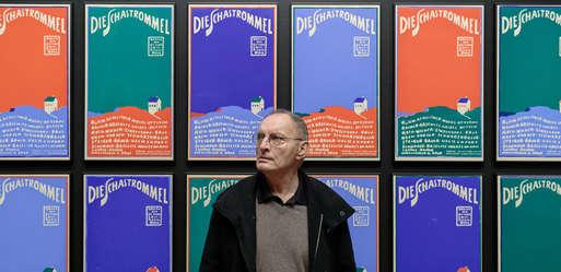 Künstler Günter Brus in der Ausstellung,