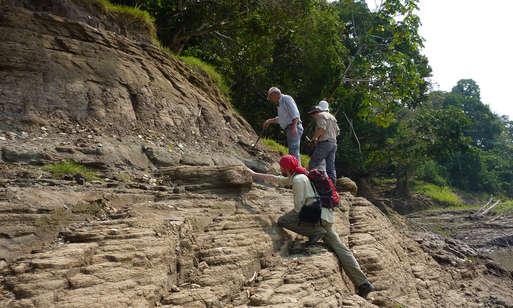 Geländearbeit am Amazonas,