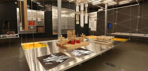 """Ausstellungsansicht, """"Graz Architektur"""","""