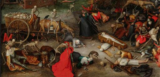 "Jan Brueghel der Ältere (1568 – 1625), ""Triumph des Todes"", dat. 1597"