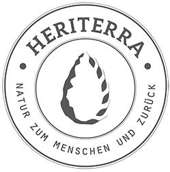"""""""HERITERRA. Von der Natur zum Menschen und zurück"""", Logo,"""