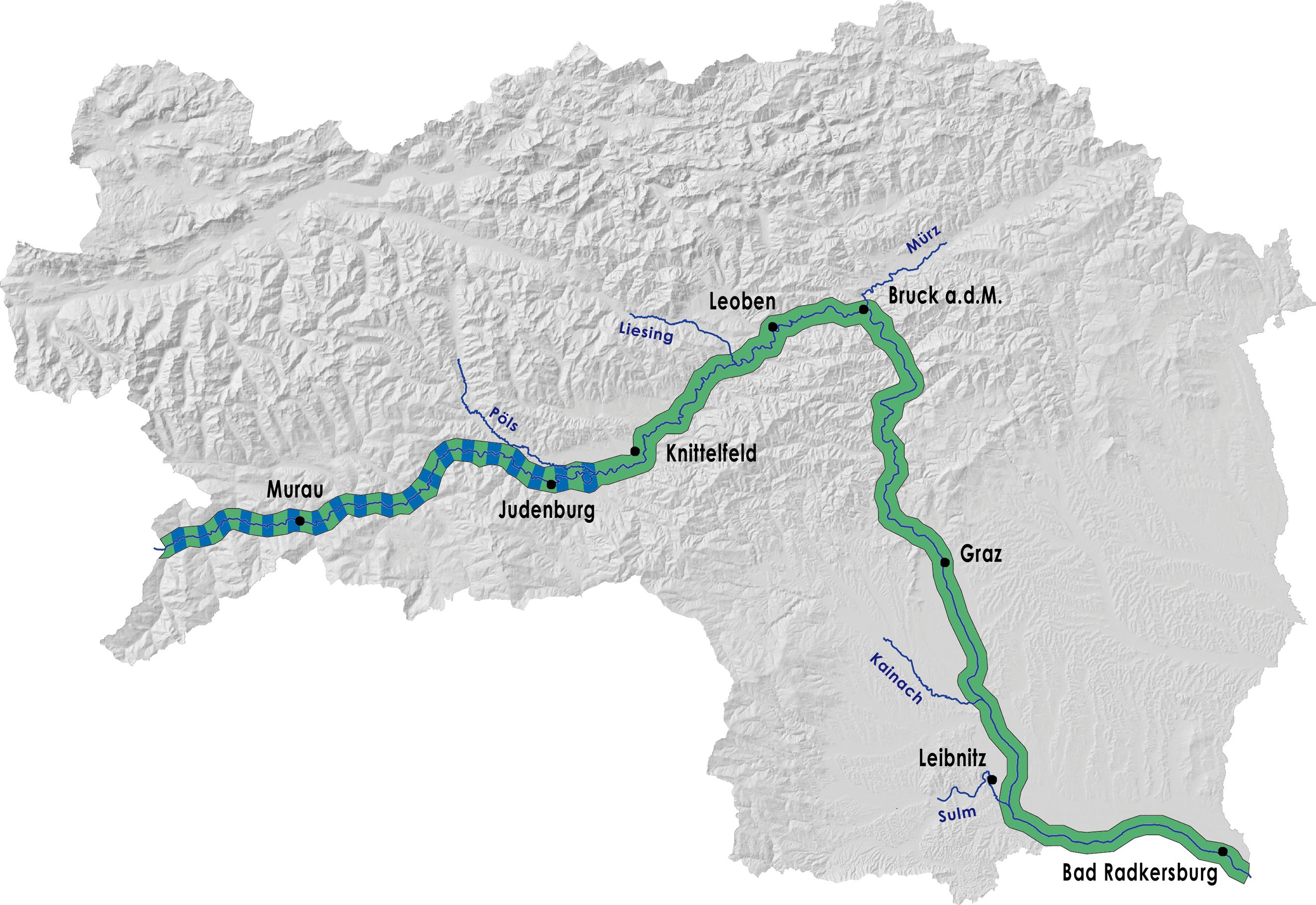 Steiermark Karte Flüsse.Schaffen Und Scheitern Die Mur Museum Für Geschichte